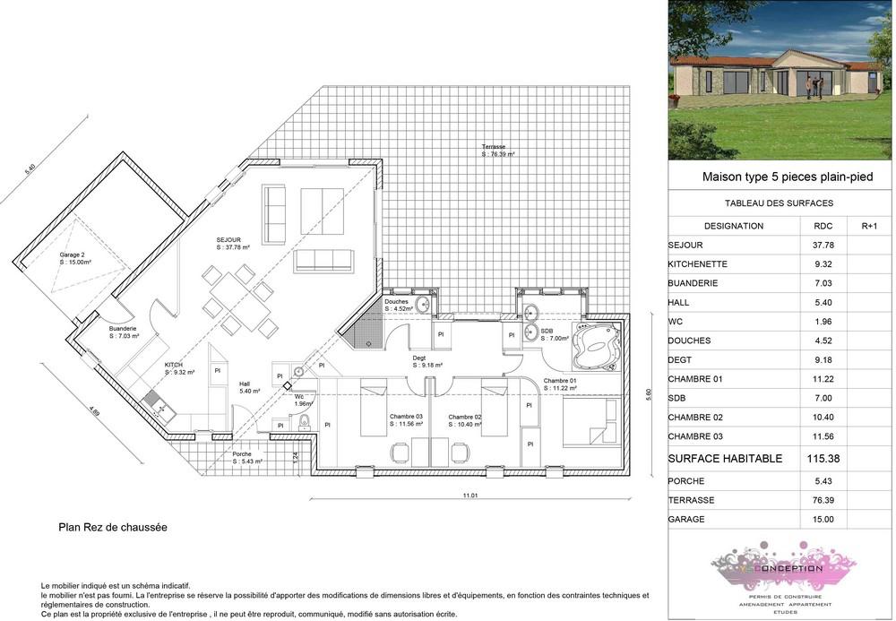 Maison En T. Finest Maison Moderne Zphyr Plan Maison D With Maison ...